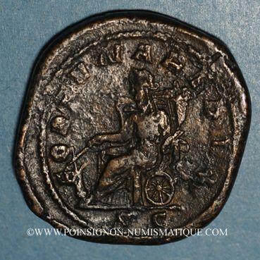 Coins Philippe I (244-249). Sesterce. Rome, 249. R/: la Fortune
