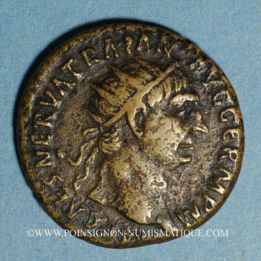 Coins Trajan (98-117). Dupondius. Rome, 99-100. R/: l'Abondance