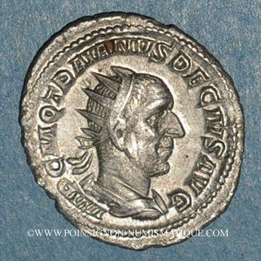 Coins Trajan Dèce (249-251). Antoninien. Rome, 249. R/: Trajan Dèce à cheval