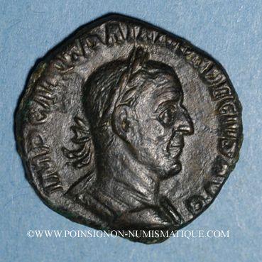 Coins Trajan Dèce (249-251). Sesterce. Rome, 249. R/: Victoire
