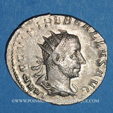 Coins Trébonien Galle (251-253). Antoninien. Atelier incertain, 252. R/: Junon