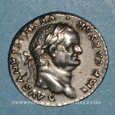 Coins Vespasien (69-79). Denier. Rome, 75-79. R/: Jupiter nu debout de face