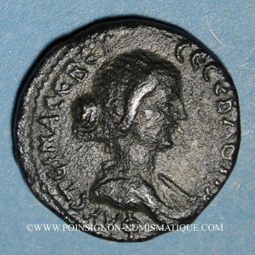 Coins Faustine jeune, épouse de Marc Aurèle. Bronze. Neapolis (Naplouse, Samarie), an 88 (= 159-160)