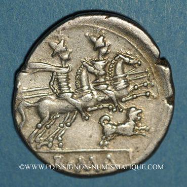 Coins République romaine. C. Antestius (vers 146 av. J-C). Denier