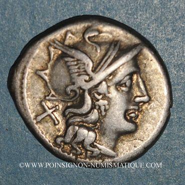 Coins République romaine. C. Juventius Thalna (vers 154 av. J-C). Denier