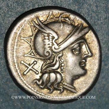 Coins République romaine. C. Scribonius (vers 154 av. J-C). Denier