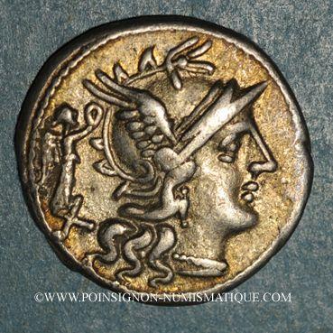 Coins République romaine. C. Terentius Lucanus (vers 147 av. J-C). Denier
