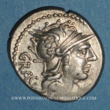Coins République romaine. L. Antestius Gragulus (vers 136 av. J-C). Denier