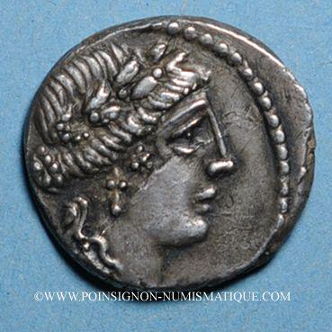 Coins République romaine. L. Hostilius Saserna (vers 48 av. J-C). Denier