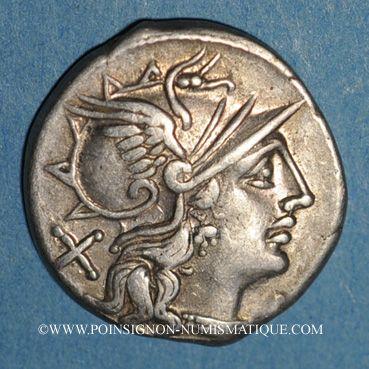 Coins République romaine. L. Saufeius (vers 152 av. J-C). Denier
