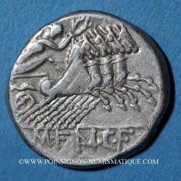 Coins République romaine. M. Fannius C. f. (vers 123 av. J-C). Denier