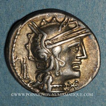 Coins République romaine. M. Opimius (vers 131 av. J-C). Denier