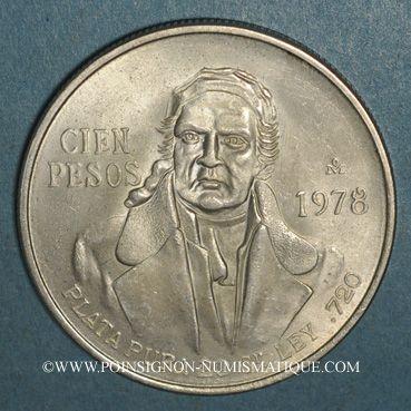 Coins Mexique. 2e République. 100 pesos 1978
