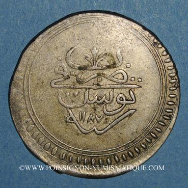 Coins Tunisie. Mustafa III (1171-1187H). 8 kharub 1187H. Tunis