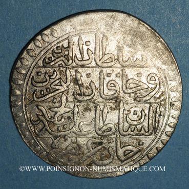 Coins Tunisie. Ottomans. Abdul Hamid I (1187-1203H). Piastre 1198H. Tunis