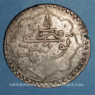 Coins Tunisie. Ottomans. Mahmud II (1223-1255H). Piastre 1247H. Tunis
