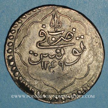 Coins Tunisie. Ottomans. Mahmud II (1223-1255H). Piastre 1249H. Tunis