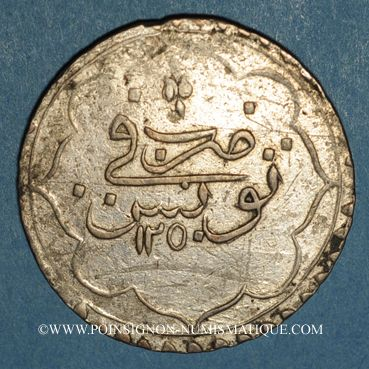 Coins Tunisie. Ottomans. Mahmud II (1223-1255H). Piastre 1250H. Tunis