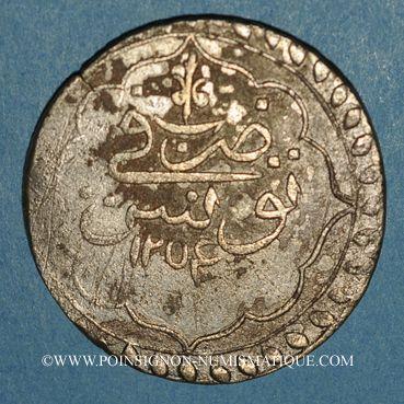 Coins Tunisie. Ottomans. Mahmud II (1223-1255H). Piastre 1254H. Tunis