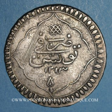 Coins Tunisie. Ottomans. Selim III (1203-1222H). Piastre 1213H. Tunis