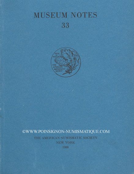 Livres d'occasion Museum Notes. N° 33. 1988