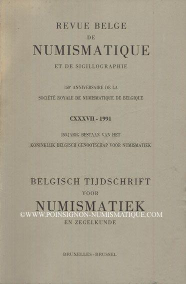Livres d'occasion Revue Belge de Numismatique. 1991