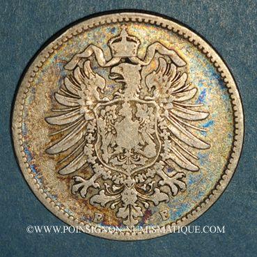 Monnaies Allemagne. 1 mark 1881 F