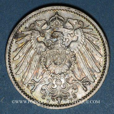 Monnaies Allemagne. 1 mark 1914F