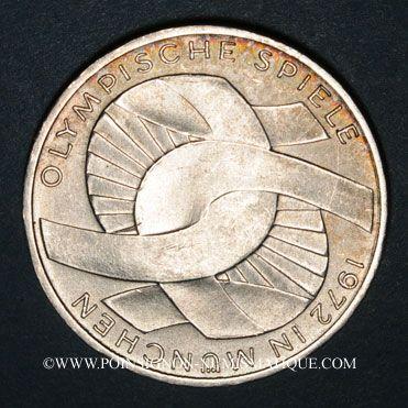 Monnaies Allemagne. 10 mark 1972D. Jeux olympiques, Symbole d'union