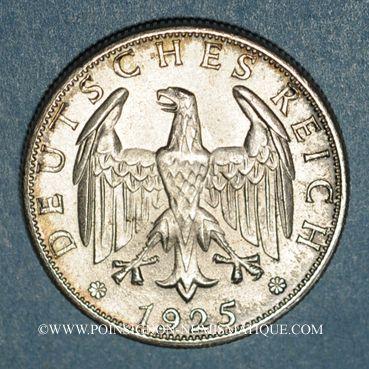 Monnaies Allemagne. République de Weimar. 2 reichsmark 1925F