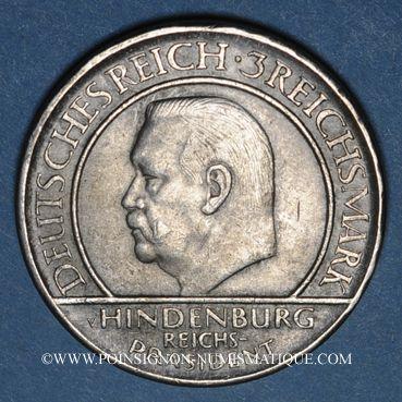 Monnaies Allemagne. République de Weimar. 3 reichsmark 1929J Verfassung