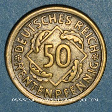 Monnaies Allemagne. République de Weimar. 50 rentenpfennig 1924D