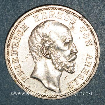 Monnaies Anhalt. Frédéric I (1871-1904). 2 mark 1896A