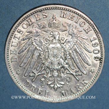 Monnaies Bavière. Otto (1886-1913). 3 mark 1909D