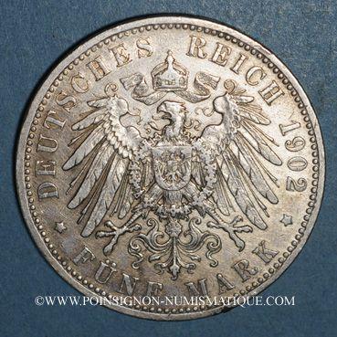 Monnaies Bavière. Otto (1886-1913). 5 mark 1902 D