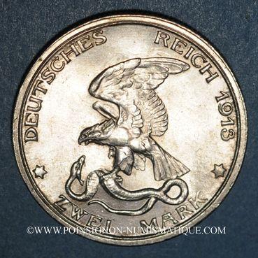 Monnaies Prusse. Guillaume II (1888-1918). 2 mark 1913