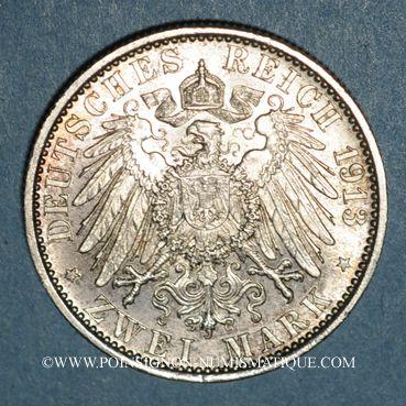 Monnaies Prusse. Guillaume II (1888-1918). 2 mark 1913A Jubilé