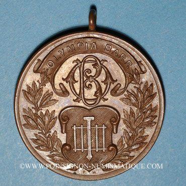 Monnaies Alsace. Barr. Olympia Barr. Médaille cuivre. 33,56 mm, avec son œillet
