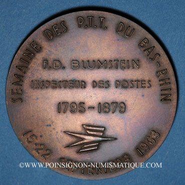 Monnaies Alsace. Benfeld. Semaine des P.T.T. du Bas-Rhin. Médaille bronze. 50,13 mm