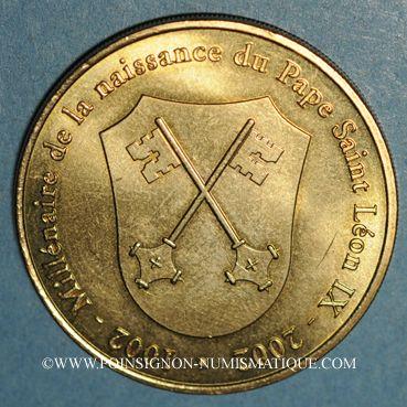 Monnaies Alsace. Eguisheim. Millénaire de la naissance du pape Léon IX. 2002