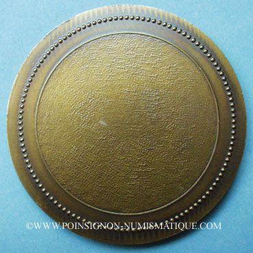 Monnaies Alsace. Eschau. Bénédiction des cloches. 1987. Médaille bronze. Uniface. 60 mm. Signée Gerner