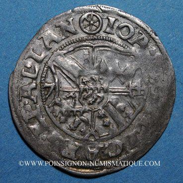 Monnaies Alsace. Evêché de Strasbourg. Jean de Manderscheid (1569-1592). 2 kreuzers 1574. Molsheim