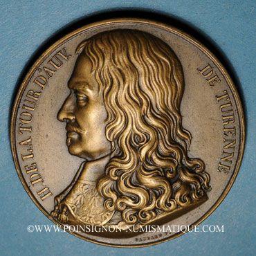 Monnaies Alsace. Hommage à Turenne - Bataille de Turckheim. 1675 (vers 1932). Médaille bronze. 41,05 mm