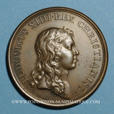 Monnaies Alsace-Lorraine. Prise de Belfort 1654. Médaille bronze jaune. Frappe postérieure (avant 1830)