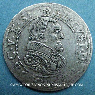Monnaies Alsace. Monnayage des Comtes Palatins. Georges Gustave (1592-1634). Teston n. d. Rothau