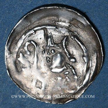 Monnaies Alsace. Strasbourg. Evêché. Epoque des Hohenstaufen (1138-1220). Denier. Strasbourg vers 1190-1284