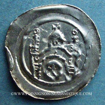 Monnaies Alsace. Strasbourg. Evêché. Epoque des Hohenstaufen (1138-1284). Denier. Molsheim vers 1190-1220