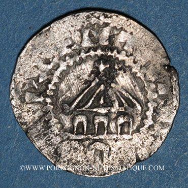 Monnaies Alsace. Strasbourg. Evêché. Otton I le Grand, roi et l'évêque Otton III (950-962). Denier. R ! R !