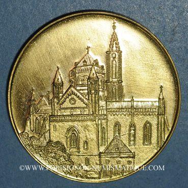 Monnaies Alsace. Strasbourg. Hommage de l'UNA à son président Lucien Engelhard. 1996. Médaille bronze