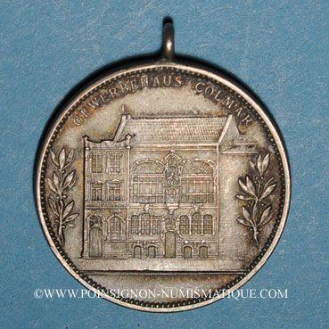 Monnaies Colmar. Inauguration de la Maison du Commerce. 1902. Argent mat. 29,16 mm